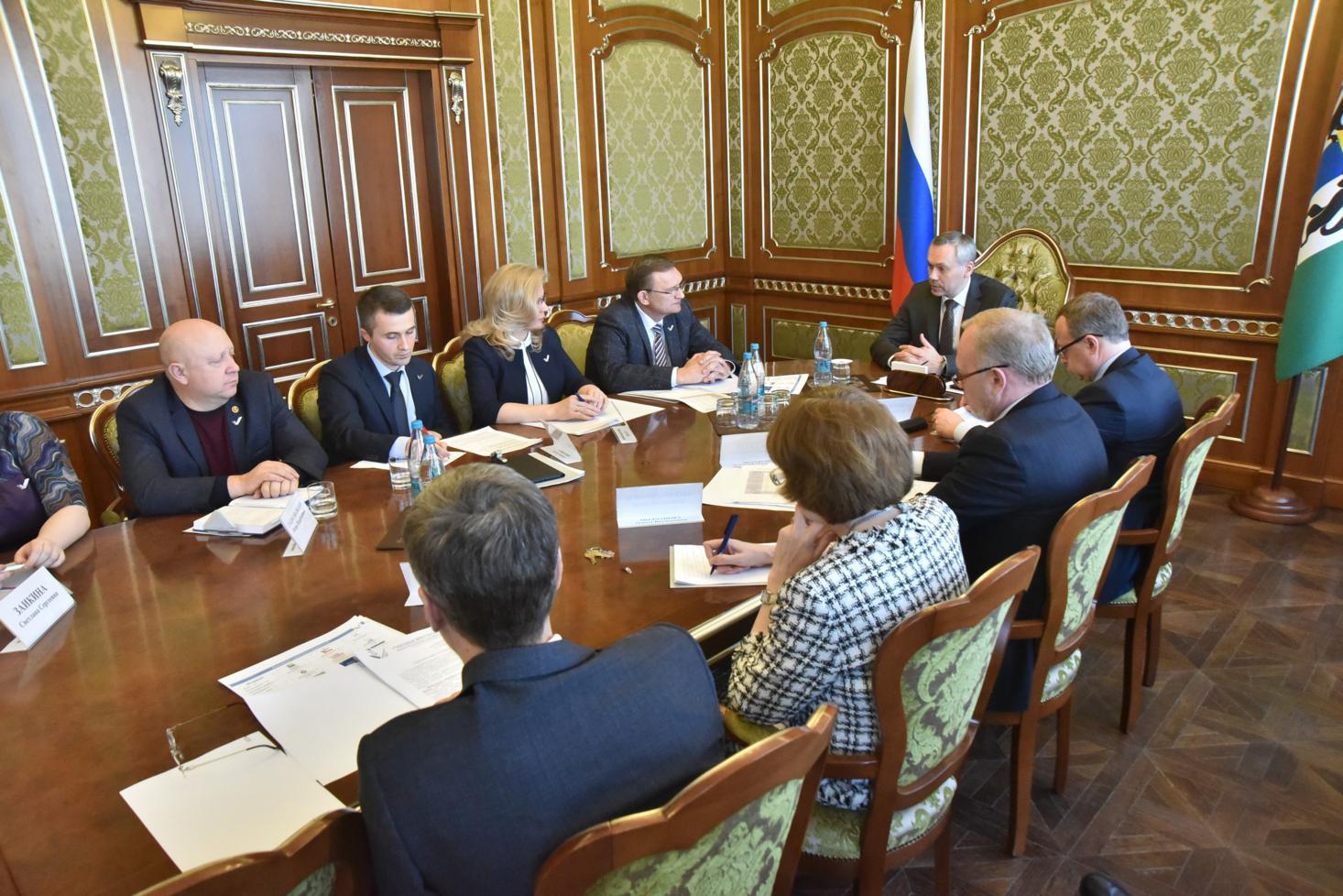 Встреча регионального отделения ОНФ с губернатором Новосибирской области